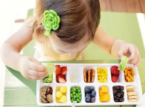 niños frutas nutrición