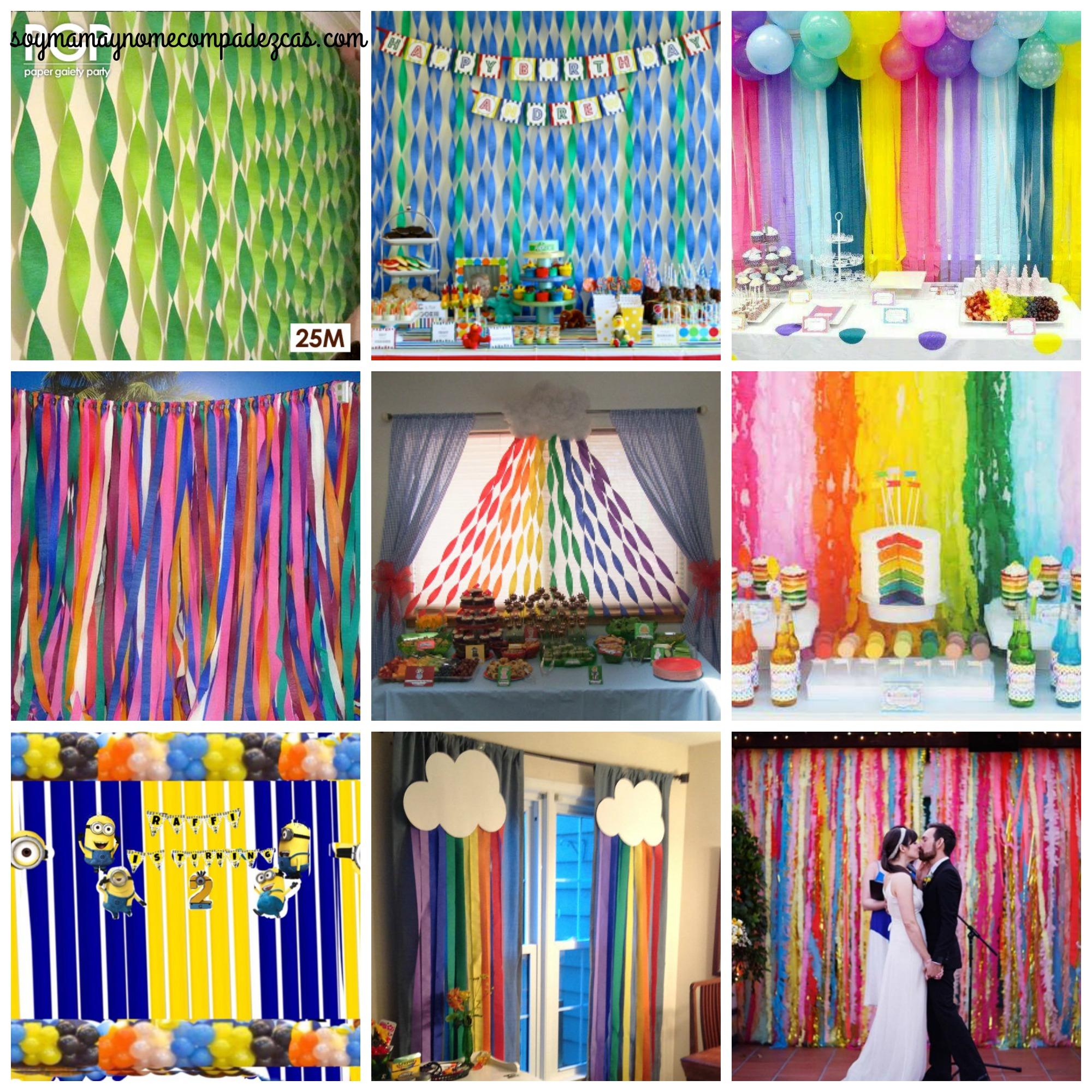 Diy cortina para fiestas soy mam y no me compadezcas - Hacer cortinas infantiles ...